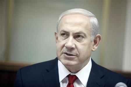 Israel's Prime Minister Benjamin Netanyahu attends the weekly cabinet meeting in Jerusalem October 21, 2012. REUTERS/Lior Mizrahi/Pool