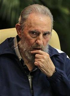 Former Cuban leader Fidel Castro attends the closing ceremony of the sixth Cuban Communist Party (PCC) congress in Havana in this April 19, 2011 file photo. REUTERS/Desmond Boylan/Files