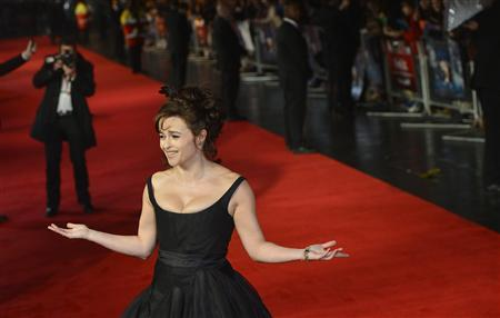British actress Helena Bonham Carter attends the European Premiere of the film Great Expectations in central London October 21, 2012. The film closes the 56th London Film Festival. REUTERS/Toby Melville