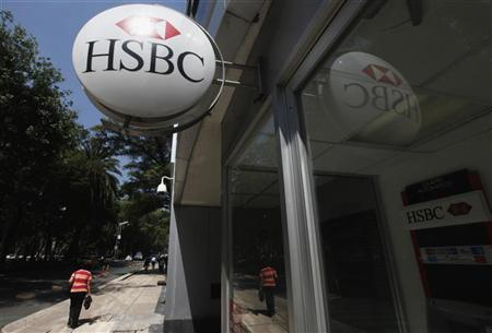 A person walks past a HSBC branch office in Mexico City July 27, 2012. REUTERS/Edgard Garrido