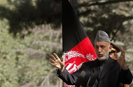Afghanistan's President Hamid Karzai speaks during a news conference in Kabul October 4, 2012. REUTERS/Omar Sobhani