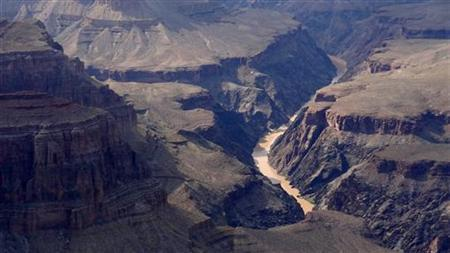 Overall view from the south Rim of the Grand Canyon and the Colorado river near Tusayan, Arizona August 10, 2012. REUTERS/Charles Platiau