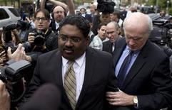 Galleon hedge fund founder Raj Rajaratnam departs Manhattan Federal Court in New York May 11, 2011. REUTERS/Lucas Jackson