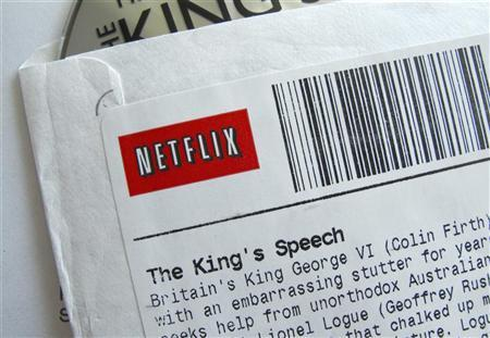 A Netflix disk envelope is displayed in Encinitas, California, July 25, 2011. REUTERS/Mike Blake