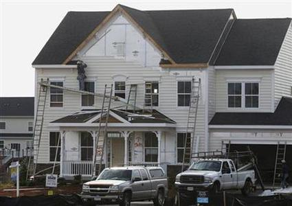 New housing construction is seen in Poolesville, Maryland, October 23, 2012. New U.S. single-family home sales surged in September to their highest level in nearly 2-1/2 years, further evidence the housing market recovery is gaining steam. REUTERS/Gary Cameron