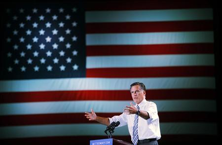 Republican presidential nominee Mitt Romney speaks at a campaign rally in Reno, Nevada October 24, 2012. REUTERS/Brian Snyder