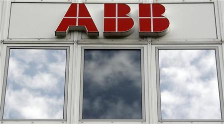 A logo is seen on the facade of the Swiss engineering group ABB plant in Baden near Zurich July 22, 2009. REUTERS/Christian Hartmann