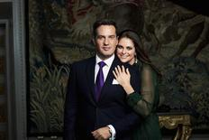 Sweden's Princess Madeleine and Christopher O'Neill pose in Stockholm in this handout picture dated October 24, 2012. REUTERS/Ewa-Marie Rundquist/The Royal Court, Sweden/Kungahuset