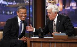 Presidente dos Estados Unidos Barack Obama foi entrevistado pelo apresentador Jay Leno nesta quarta-feira. 24/10/2012 REUTERS/Kevin Lamarque