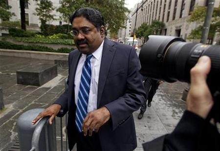 Galleon hedge fund founder Raj Rajaratnam departs Manhattan Federal Court in New York October 13, 2011. REUTERS/Lucas Jackson