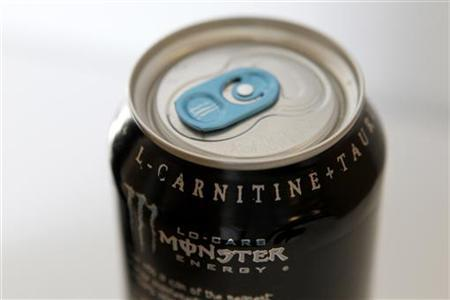 A can of Monster energy drink is shown in this photo illustration in Los Angeles October 23, 2012. REUTERS/Sam Mircovich