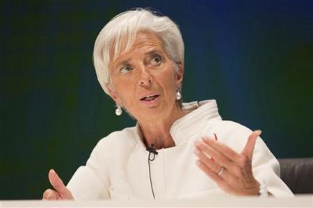 International Monetary Fund (IMF) Managing Director Christine Lagarde speaks at the Tokyo International Forum October 12, 2012. REUTERS/Stephen Jaffe/IMF/Handout