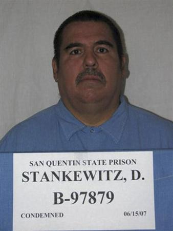 Douglas Stankewitz, shown in this 2007 photo provided by the California Department of Corrections and Rehabilitation, is California's longest serving death row inmate. REUTERS/California Department of Corrections and Rehabilitation/Handout