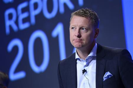 Ericsson CEO Hans Vestberg speaks during a news conference in Stockholm October 26, 2012. REUTERS/Henrik Montgomery/Scanpix Sweden