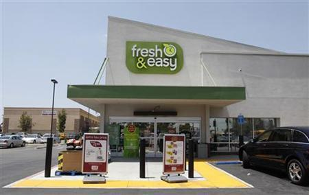 The exterior of a Tesco's Fresh & Easy Neighborhood Market food store in Compton, California, May 13, 2009. REUTERS/Danny Moloshok
