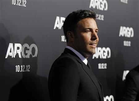 Director of the movie and cast member Ben Affleck poses at the premiere of ''Argo'' at the Academy of Motion Picture Arts and Sciences in Beverly Hills, California October 4, 2012. REUTERS/Mario Anzuoni