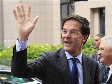 Netherlands' Prime Minister Mark Rutte arrives at a European Union leaders summit in Brussels October 19, 2012. REUTERS/Yves Herman