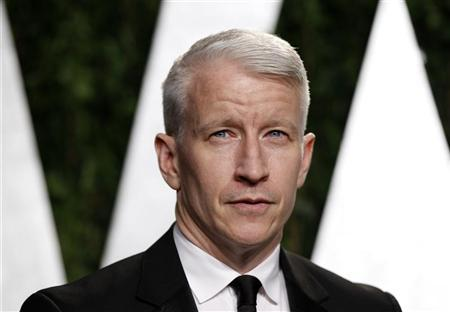 Journalist Anderson Cooper arrives at the 2012 Vanity Fair Oscar party in West Hollywood, California February 26, 2012. REUTERS/Danny Moloshok