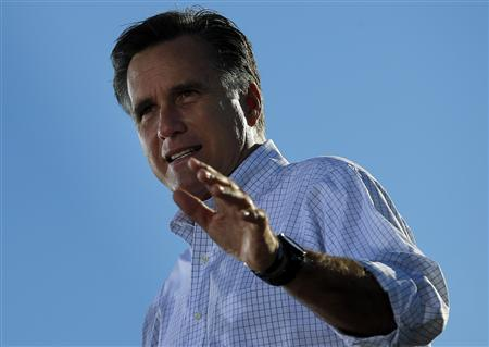 Republican presidential nominee Mitt Romney speaks at a campaign rally in Davenport, Iowa October 29, 2012. REUTERS/Brian Snyder