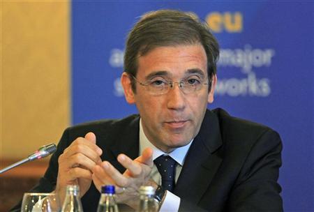 Portugal's Prime Minister Pedro Passos Coelho speaks during the European People's Party congress in Bucharest October 18, 2012. REUTERS/Radu Sigheti