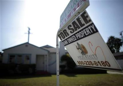 A foreclosed home is seen for sale in Santa Ana, California, May 24, 2011. REUTERS/Lucy Nicholson