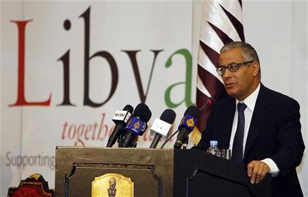 Ali Zeidan speaks during a conference on Libya, in Doha May 11, 2011. REUTERS/Mohammed Dabbous