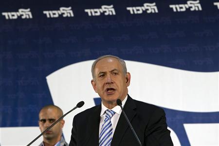 Israel's Prime Minister Benjamin Netanyahu speaks during a Likud central committee meeting in Tel Aviv October 29, 2012. REUTERS/Baz Ratner