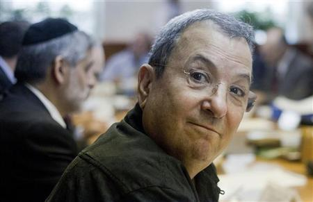Israel's Defence Minister Ehud Barak attends the weekly cabinet meeting in Jerusalem October 14, 2012. REUTERS/Jim Hollander/Pool