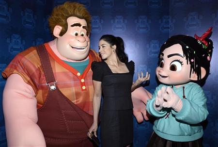 Cast member Sarah Silverman attends the premiere of the animated film ''Wreck-It Ralph'' in Los Angeles October 29, 2012. REUTERS/Phil McCarten