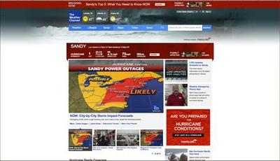 Weather Channel leads cable news ratings with Sandy...