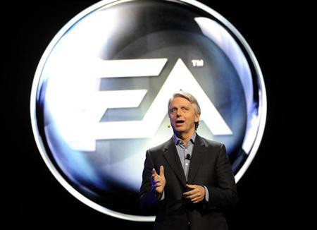 Electronic Arts' Chief Executive Officer (CEO) John Riccitiello introduces their new lineup during the EA press conference as part E3 in Los Angeles, California June 4, 2012. REUTERS/Gus Ruelas