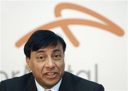 Chairman and Chief Executive Officer Lakshmi Mittal answers a question as he presents Year 2009 results of Arcelor Mittal steel group during a news conference in Luxembourg February 10, 2010. REUTERS/Thierry Roge/files