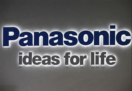 A logo of Panasonic Corp is pictured at its showroom in Tokyo November 1,2012. Panasonic said it will lose almost $10 billion this business year as it cleans house of poorly performing operations, writing down billions of dollars of goodwill and assets in its mobile and energy units while its new boss readies for a fresh bout of restructuring. REUTERS/Yuriko Nakao