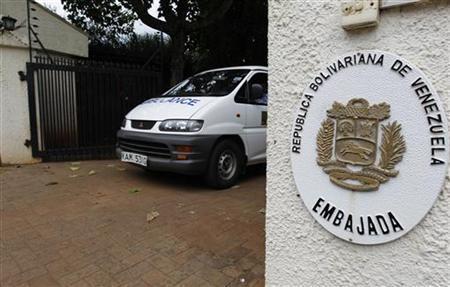 File photo of a hearse carrying the body of Venezuela's embassy's slain charge d'affaires Olga Fonseca leaveing her residence at the Runda neighbourhood in Kenya's capital Nairobi July 27, 2012. REUTERS/Thomas Mukoya