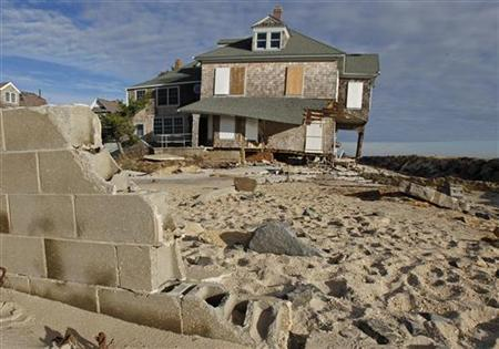Damaged homes from Hurricane Sandy are seen in Bay Head, New Jersey, November 1, 2012. REUTERS/Adam Hunger