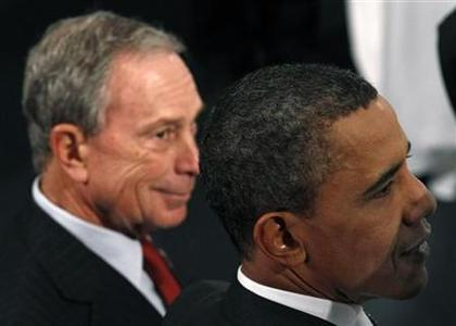 U.S. President Barack Obama and New York Mayor Michael Bloomberg attend the New York City Science and Engineering Fair at the American Museum of Natural History in New York, in this file photo taken March 29, 2011. REUTERS/Jim Young