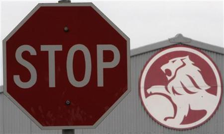 A stop sign is seen near a General Motors (GM) Holden storage facility in Melbourne June 2, 2009. REUTERS/Mick Tsikas