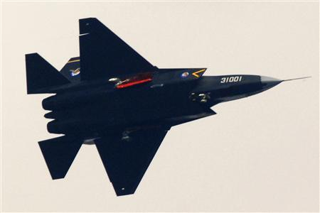 A ''Guying'' stealth fighter participates in a test flight in Shenyang, Liaoning province, October 31, 2012. REUTERS/Stringer