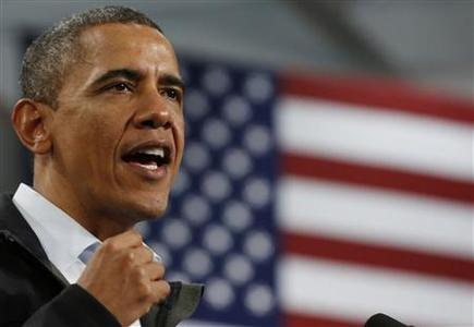 U.S. President Barack Obama talks at a campaign event at Springfield High School in Ohio, November 2, 2012. REUTERS/Larry Downing