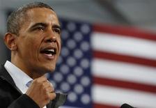 Candidato democrata Barack Obama apresenta leve vantagem em Estados, mesmo com empate nacional. 02/11/2012 REUTERS/Larry Downing