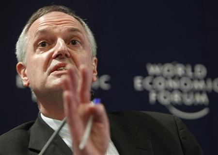 Paul Polman, CEO of Unilever attends a session at the World Economic Forum (WEF) in Davos January 28, 2010. REUTERS/Michael Buholzer/Files