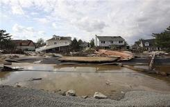 Hurricane Sandy damaged areas are seen along Rt 35 in Bayhead, New Jersey, November 2, 2012 in this handout image courtesy of the governor's office. Picture taken November 2, 2012. REUTERS/New Jersey Governor's Office/Tim Larsen/Handout