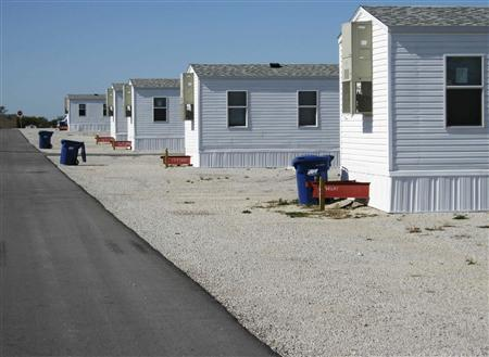 Rows Of FEMA Provided Mobile Homes Are Pictured In Joplin Missouri October 20 2012 An Affordable Place To Live The Wake Disasters Such As Hurricane