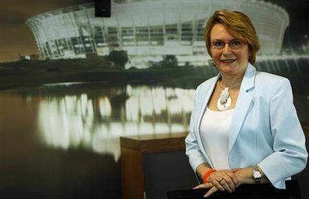 Democratic Alliance (DA) leader Helen Zille poses for a photograph after an interview with Reuters in Johannesburg November 2, 2012. REUTERS/Siphiwe Sibeko