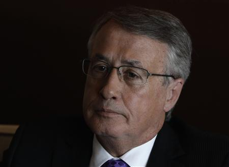 Australian Treasurer Wayne Swan speaks during an interview with Reuters at a hotel in Mexico City November 4, 2012. REUTERS/Henry Romero