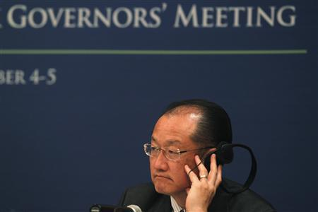 World Bank President Jim Yong Kim attends a news conference in Mexico City November 4, 2012. The G20 meeting of finance ministers and central bank governors in Mexico will take place from November 4 to 5. REUTERS/Edgard Garrido