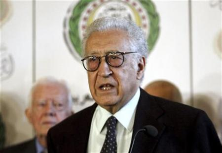 International peace envoy for Syria Lakhdar Brahimi speaks at a news conference at the Arab League headquarters in Cairo October 24, 2012. REUTERS Mohamed Abd El Ghany