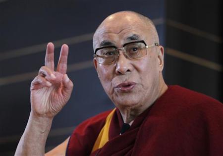 Tibetan spiritual leader the Dalai Lama speaks at a news conference in Yokohama, south of Tokyo November 5, 2012. REUTERS/Yuriko Nakao