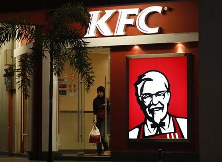 A customer leaves a KFC fast food restaurant in Dengkil, outside Kuala Lumpur November 3, 2012. REUTERS/Bazuki Muhammad