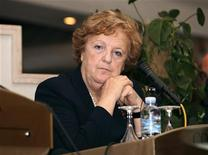 Il ministro Anna Maria Cancellieri. Tripoli, 3 aprile 2012. REUTERS/Ismail Zitouny